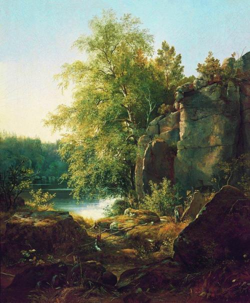View of valaam island 1858 by Ivan Shishkin