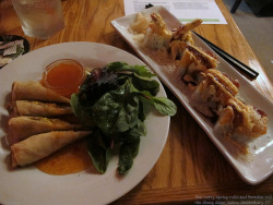 Thai curry spring rolls and Paradise roll by Coyoty on Flickr.