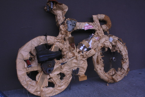 We like faux bikes made of found materials.