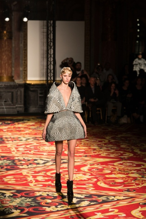 Stratasys and Materialise 3D printed dress hit Paris Fashion Week at Iris van Herpen show  3D printed apparel his the fashion catwalks of Paris