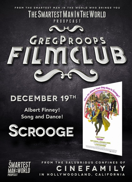 gregproops:  Christmas Vodkast. Greg Proops Film Club Scrooge with Albert Finney. Free to download.
