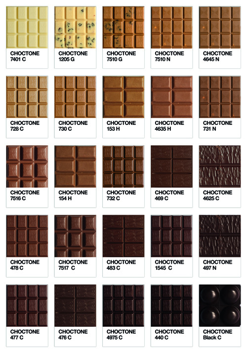 Choctone  Graphic project, the Choctone, chocolate tone of Pantone colour chart. C for chocolate, N for nuts, H for Honney, G for Grape Production: Ramses Post-production Aurélio