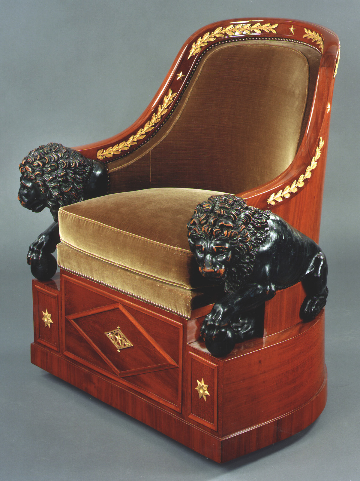 Empire Armchair with Lions, circa 1805