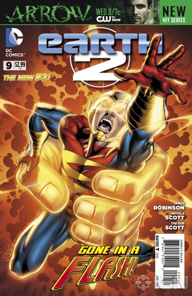 IGN has a preview of Earth 2 #9 by James Robinson and Nicola Scott. This issue is the debute of the New 52 Doctor Fate!