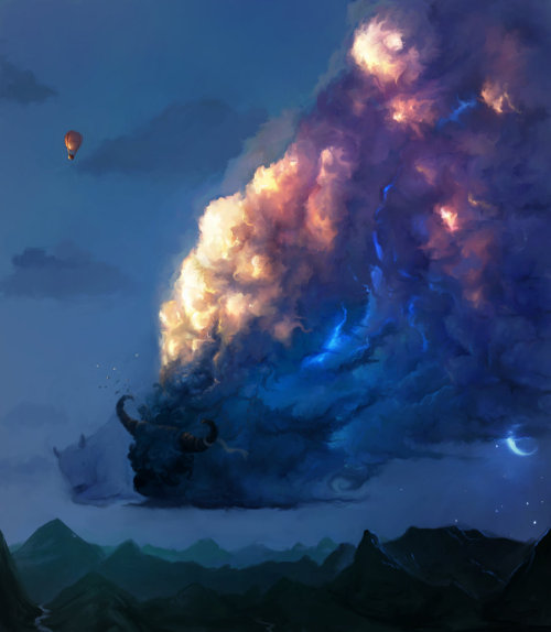 The Sleep of Cloudy Bulls by ~Maximyz
