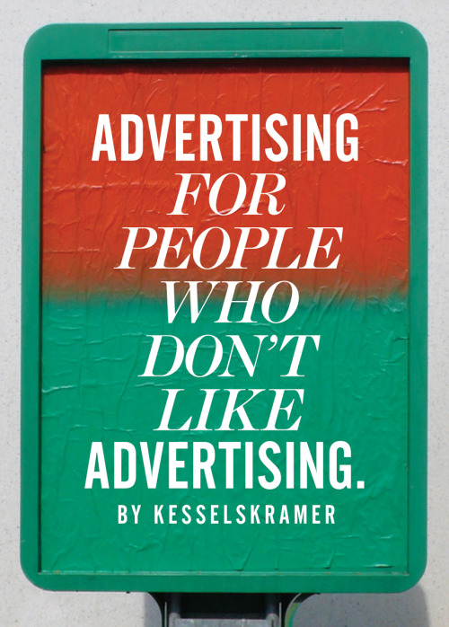 This is a book by a company that dislikes advertising as much as anyone. Nevertheless, it makes adverts. It has worked with global brands to produce fashion collections and promoted a town with a mass wedding. It creates advertising with more human, truthful communications. The company's name is KesselsKramer.This book describes how to make something you like out of something you don't. As well as drawing on its own experiences, KesselsKramer listens and learns from those who doubt the advertising industry. Stefan Sagmeister explains how quitting work makes you better at working; Hans Aarsman discusses authenticity in image-making; and Alex Bogusky looks at ways to help capitalism grow up.Advertising for People Who Don't Like Advertising is partly a creative handbook and partly an attempt to make the world a very slightly better place. It's intended for anyone who has ever hated a web banner or zapped an ad break. KesselsKramer not only has a new LA office, but a new book.
