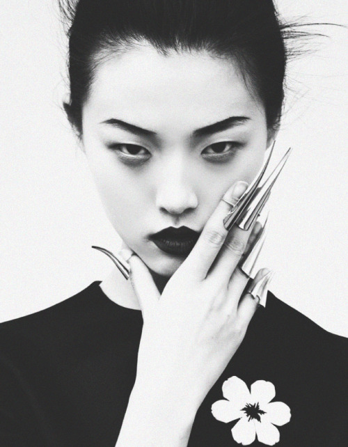 deprincessed:  Tian Yi wearing Prada S/S 2013 in 'Memoirs Of A Geisha' shot by Oliver Stalmans for Elle Vietnam May 2013