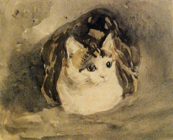 loftcultural:  Gwen John, The Cat, 1905-08