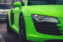 johnny-escobar:  Matte lime green R8
