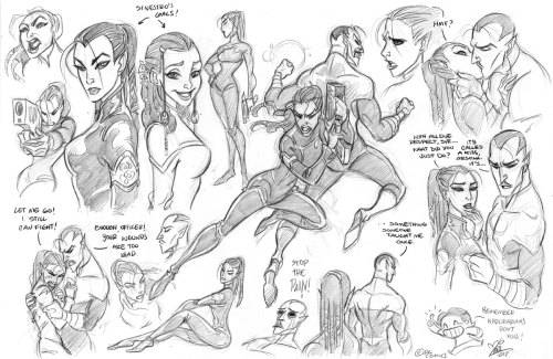 whisker-diar1es-art:  Well, guys, this is my Arsona/Sinestro sketchdump. You can always visit the Arsona tag to see who she is. I love how different she looks from Arin, I think their personalities contrast beautifuly from one another just to make Sin go bananas. Hope you like 'em! n__n  ,I get drunk so easily with fan art ;___;