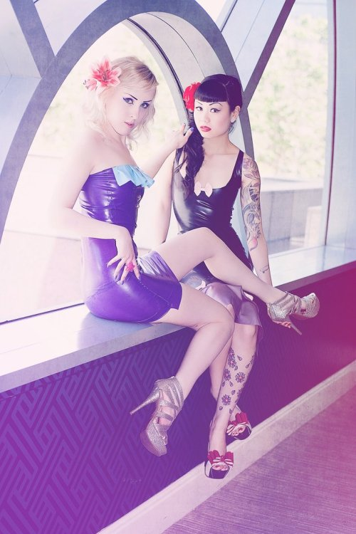 Latex Ladies by ~MelissaDrew on deviantART