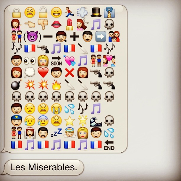 officialcomedy:  maggiethebrave:  Les Miserables in emoticons.  This we would see.
