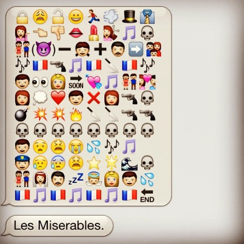 maggiethebrave:   Les Miserables in emoticons.