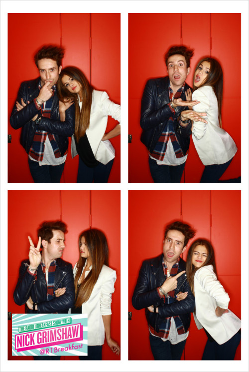 @R1Breakfast: looking fine, fresh and fierce it's @grimmers and @selenagomez in our #Instagrim booth :)