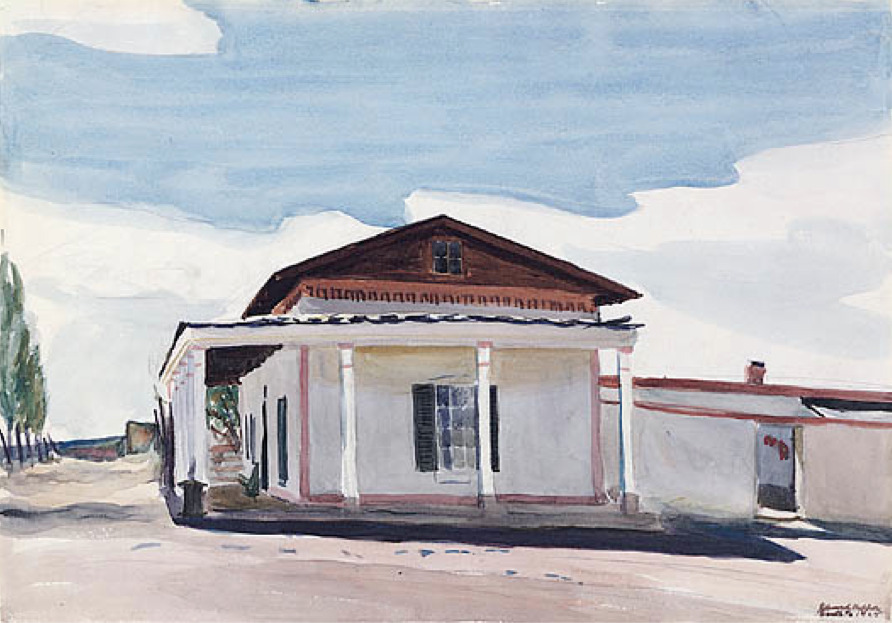 Edward Hopper Ranch House, Santa Fe Watercolor on graphite, 1925 Wiiliams College of Art