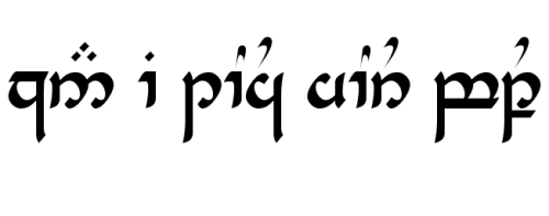 """Can I touch your butt"" in Elvish."