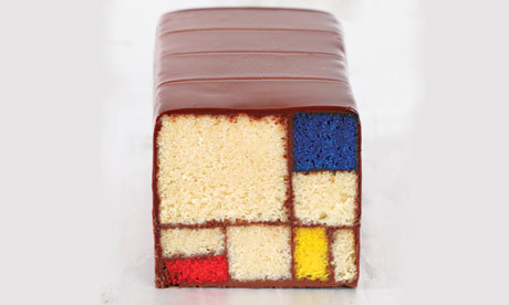 The cake that looks like a Mondrian painting Could these sweets, inspired by great artists, be the perfect thing to round off a stylish dinner party? Photograph: Clay McLachlan © 2013