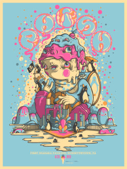 heavygraffic:  Drew Millward - Phish, Burgettstown PA 2012 gig poster