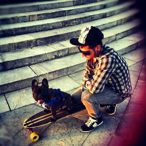 Longboard and dog #longboarding #lifeskateboard #long#lifelongboard by Dani Dobarro on Flickr.