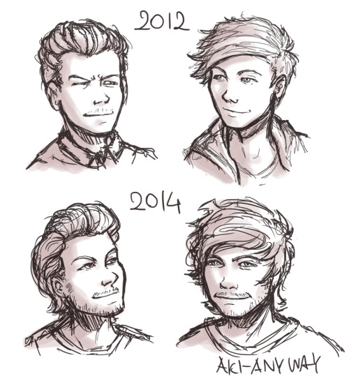 akisdoodles:  His hair are evolving.