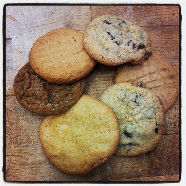 randomawe:  Cookies! Peanut Butter, Molasses, and Chocolate chunk :) #JWU #bakingandpastry  Just another day in the Baking and Pastry labs of JWU.