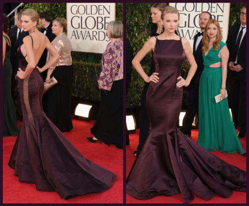 GOLDEN GLOBES 2013 - RED CARPET  TAYLOR SWIFT - DONNA KARAN