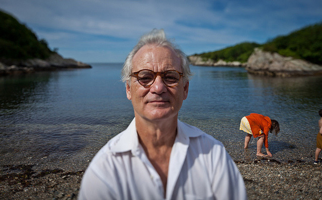Bill Murray on the Set of Moonrise Kingdom