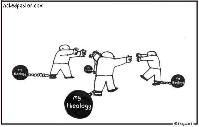 nakedpastor:  Is your theology a ball and chain? My cartoon and commentary: http://www.patheos.com/blogs/nakedpastor/2013/05/theology-as-a-ball-and-chain/