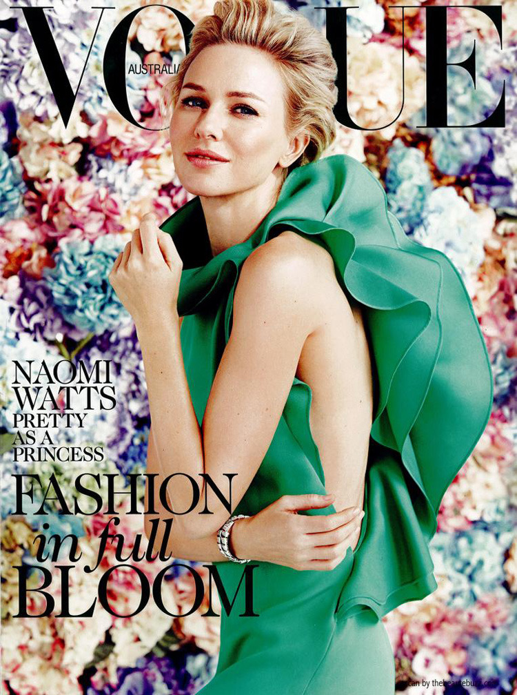 fevaleaki-ink:  Naomi Watts looking divine on the next month's cover of Australian Vogue captured by Will Davidson