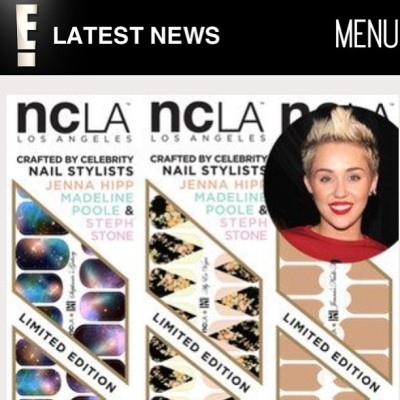 .@EOnline loves our celeb inspired @shopncla x @nailinghwood #nailwraps by @jennahipp @stephstonenails @mpnails #nclaxnailinghollywood. Get yours today $16 www.shopncla.com