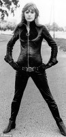 Marianne Faithfull, The Girl on a Motorcycle 1968 vintage fashion style rocker girl late 60s bad girl glam zipper jumpsuit catsuit boots hip hugger belt