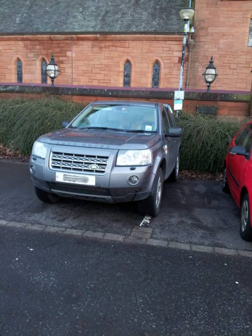 Not a massively bad parking job, but its my mother-in-law, so she gets put on the list!