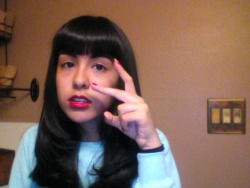 lol i'm so stupid :p .But i got a fresh haircut c: I'm gona fix them bangs thooo.