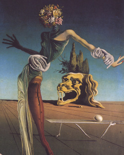 magrittee:  Salvador Dali - The Woman with a Head of Roses (partial)
