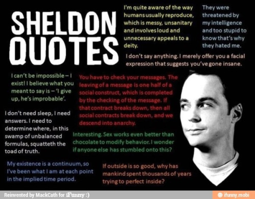 You see, i love sheldon! haha!! :D