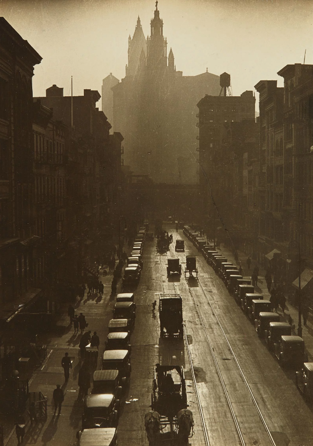 Consuelo Kanaga. Downtown, New York. 1924.