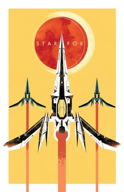 pxlbyte:  Stylized Star Fox Poster Article || Source || Related || Game