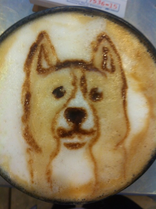 corgiaddict:  faerielandcorgi:  coffee-katie:  Corgi Latte  Re-blogging because this is just too awesome! I don't know if I could ruin it by drinking it if I got one of these!  You cannot drink this beautiful creation.