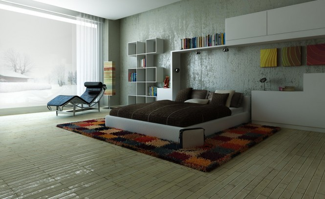 homedesigning:  (via Modern, Colorful Bedrooms)