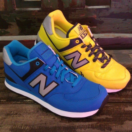 & for the guys: New Balance 574s #ripstop #newbalance #574 #sneakers #spring #style #kicks #abbadabbas #l5p