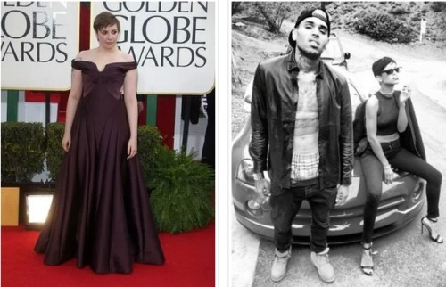 "Lena Dunham certainly knows how to stay in the news. Shortly after settling her ""feud"" with shock jock Howard Stern, Lena made headlines again during a podcast interview with Alec Baldwin. Lena stated she used to be ""into"" Rihanna until Rihanna reconciled with Chris Brown."