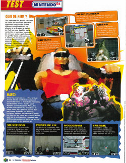 Another scan, this time from the french Nintendo Magazine. That image of Duke Nukem is awful.  More here.