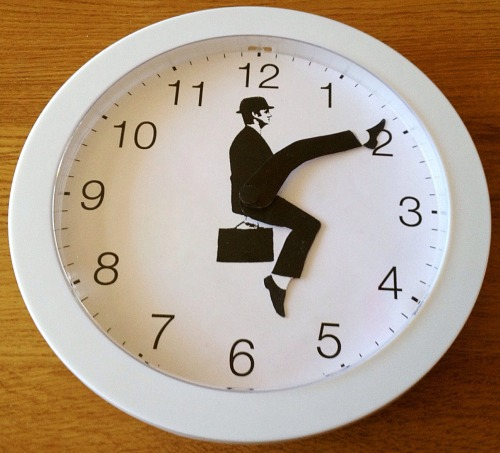 1863-project:  iamnahald:  I made a new version of my silly walks clock! I updated the graphics a bit, and used a clock as base. You might possibly, maybe, perhaps, at some point in the future, find this version for sale in an Etsy shop. Keep an eye out just in case you don't feel like making it yourself :). You can find the tutorial for the original here: http://sillywalkclock.blogspot.se/  I NEED THIS HERE'S MY WALLET  Yep!