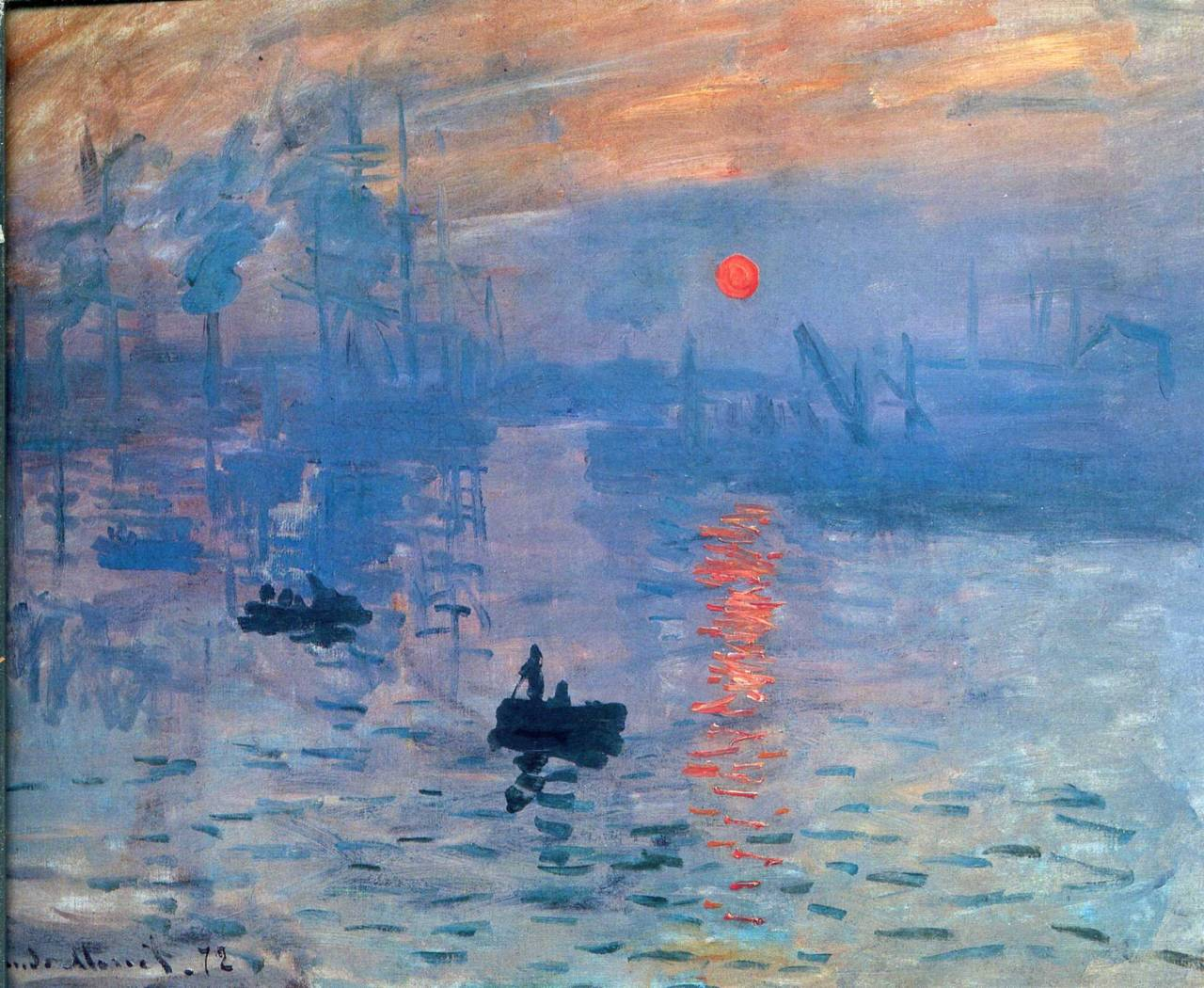 sntkns:  Claude Manet, Impression, Sunrise, 1874
