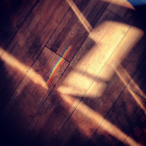 #rainbow #wood #light #shadow #geometric #shapes #prism