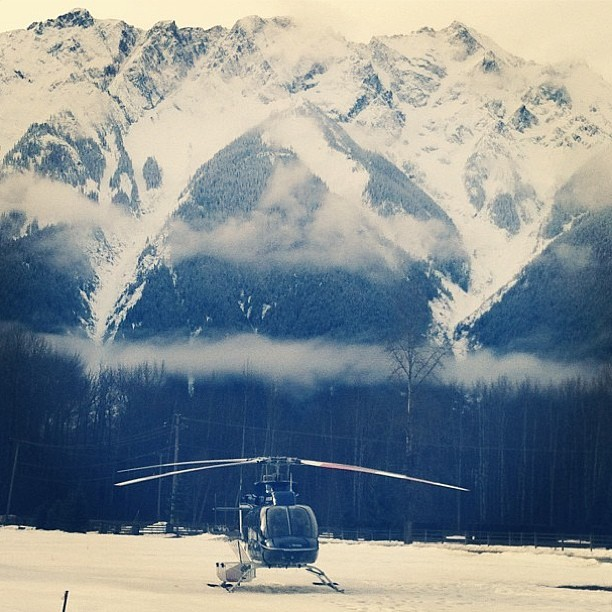 Todays #TryingStuff agenda. Photo by @alicarrtroxell #whistler #heliskiing