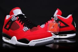 "kreamonline:   (via ""Fire Red Suede"" Air Jordan 4 Retro 