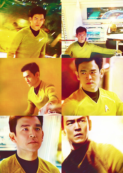 John Cho as Hikaru Sulu in Star Trek into Darkness
