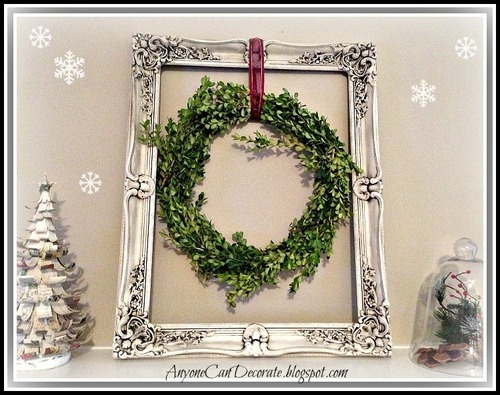 DIY Christmas Wreath from Boxwood Plants - See how I made it HERE