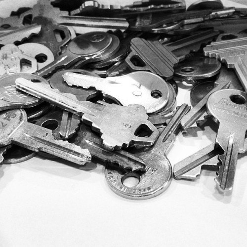 We had a lot of #keys at #work that we had no clue as to what they unlocked so my manager said to toss them. But I have an #art #project or two in mind